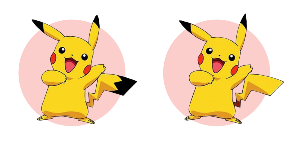 <p>Though many of us clearly remember black detailing on the Pokemon character's tail, in reality it's just yellow.</p>