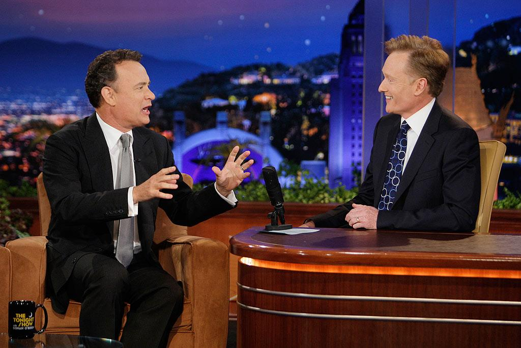 """Tom Hanks spent so much time gushing about West Coast fast food chain In-N-Out that it was hard to tell what he was promoting -- burgers or his new movie, """"Angels & Demons."""" Paul Drinkwater/NBC - June 2, 2009"""