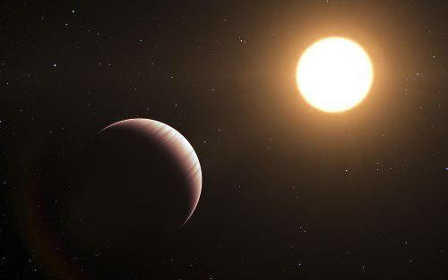 An artist's impression of the Tau Boötis system. Astronomers are working to detect atmospheres of exoplanets.