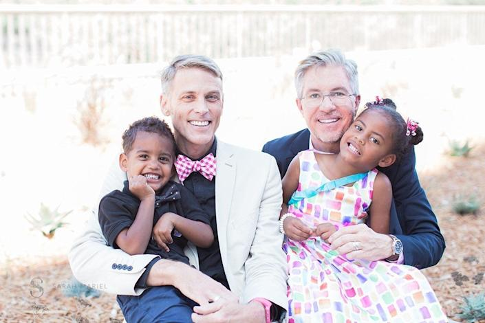 """""""Tom and Russell's 26th anniversary was an especially wonderful day, because it was also the day that they finalized the adoption of their two foster children."""" -- Sarah Mariel"""