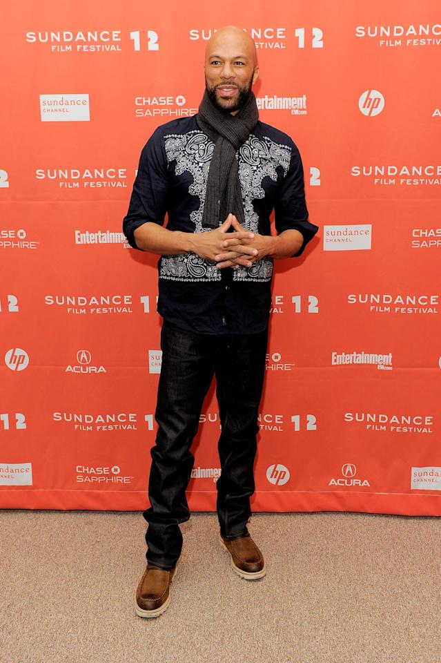 """PARK CITY, UT - JANUARY 23:  Actor  Common attends the """"LUV"""" premiere during the 2012 Sundance Film Festival held at Eccles Center Theatre on January 23, 2012 in Park City, Utah.  (Photo by Jemal Countess/Getty Images)"""