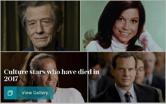 Culture stars who have died in 2017