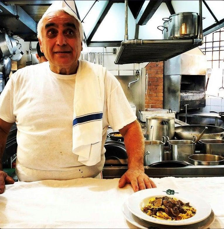 Dishy: a chef at Cammillo in Florence, one of Norman's favourites in the cityRussell Norman