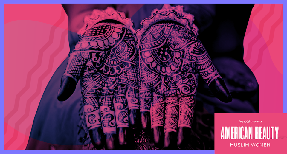 For those who grew up in cultures that use henna to tattoo the hands, the tradition is considered sacred. (Photo: Getty Images; art by Quinn Lemmers for Yahoo Lifestyle)