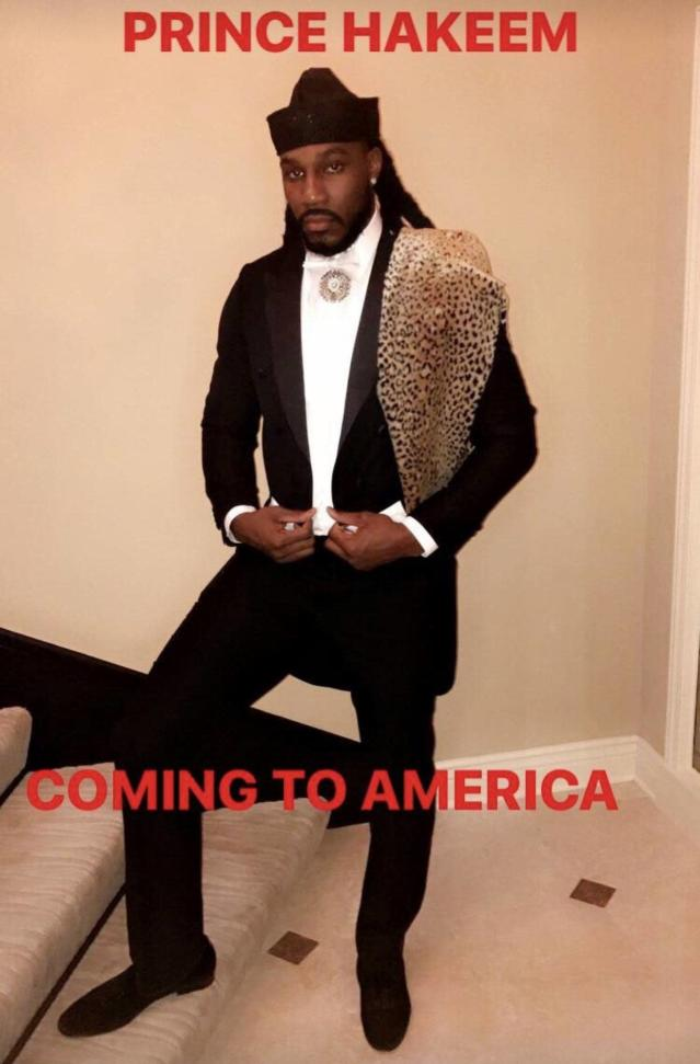 Jae Crowder got the costume down to the fur. (Instagram)