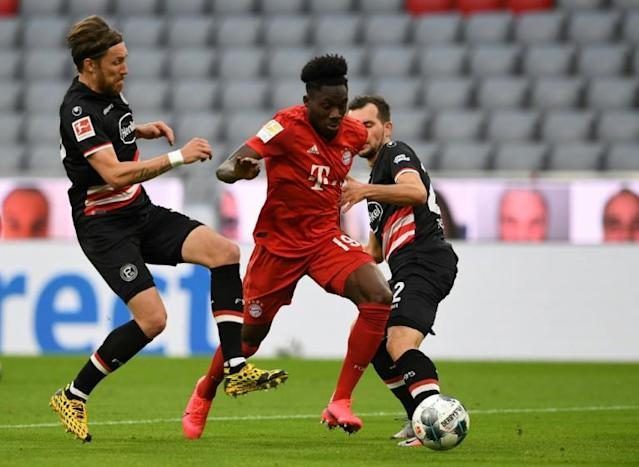 Alphonso Davies has been outstanding in his first full season with Bayern (AFP Photo/Christof STACHE)