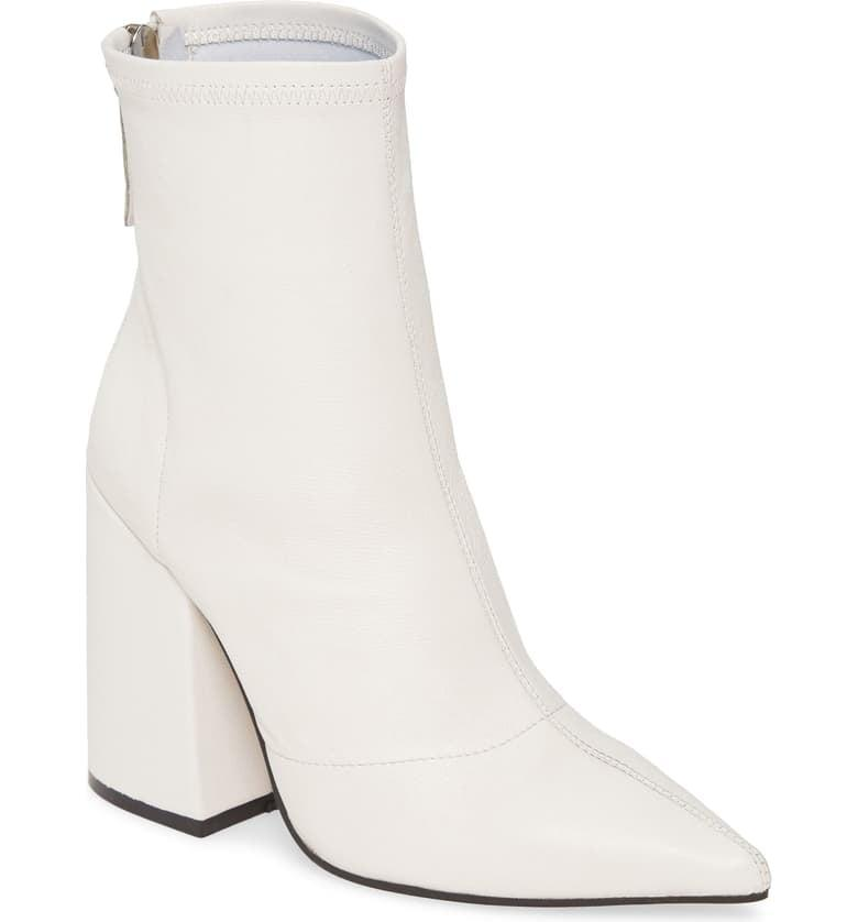 """<p>White boots are sleek and cool, and these pointed-toe <a href=""""https://www.popsugar.com/buy/Alias-Mae-Ahnika-Booties-483067?p_name=Alias%20Mae%20Ahnika%20Booties&retailer=shop.nordstrom.com&pid=483067&price=200&evar1=fab%3Aus&evar9=45610650&evar98=https%3A%2F%2Fwww.popsugar.com%2Ffashion%2Fphoto-gallery%2F45610650%2Fimage%2F46526879%2FAlias-Mae-Ahnika-Bootie&list1=shopping%2Cfall%20fashion%2Cshoes%2Cboots%2Cfall%2Cbooties&prop13=mobile&pdata=1"""" rel=""""nofollow"""" data-shoppable-link=""""1"""" target=""""_blank"""" class=""""ga-track"""" data-ga-category=""""Related"""" data-ga-label=""""https://shop.nordstrom.com/s/alias-mae-ahnika-bootie-women/5381835?origin=category-personalizedsort&amp;breadcrumb=Home%2FBrands%2FAlias%20Mae&amp;color=white%20stretch%20leather"""" data-ga-action=""""In-Line Links"""">Alias Mae Ahnika Booties</a> ($200) are swoon-worthy.</p>"""