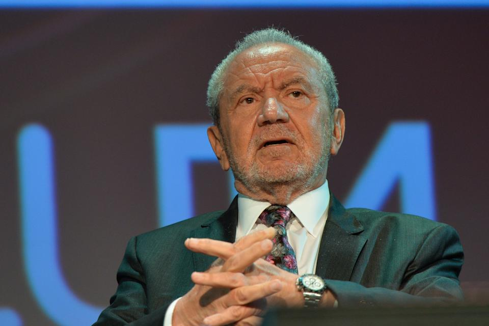 Lord Alan Sugar, Business Titan And Star Of The Apprentice UK, speaks at Pendulum Summit, World's Leading Business and Self-Empowerment Summit, in Dublin Convention Center. On Thursday, January 10, 2019, in Dublin, Ireland.   On Wednesday, 8 January 2020, in Dublin, Ireland. (Photo by Artur Widak/NurPhoto via Getty Images)