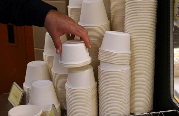 PHOTO: 'SpudWare' and other fully compostable dinnerware is seen here. (Susan Biddle/The Washington Post/Getty Images)