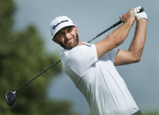 After missing the cut at the British Open, Dustin Johnson is tied for the lead at the RBC Canadian Open. (AP)
