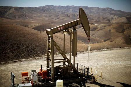 FILE PHOTO - A pumpjack brings oil to the surface in the Monterey Shale, California