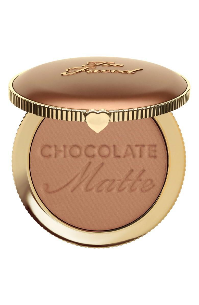 <p>This <span>Too Faced Chocolate Soleil Bronzer</span> ($32) is infused with real cocoa powder, so it smells like a Hershey's bar. Plus, the matte formula looks natural on the skin.</p>