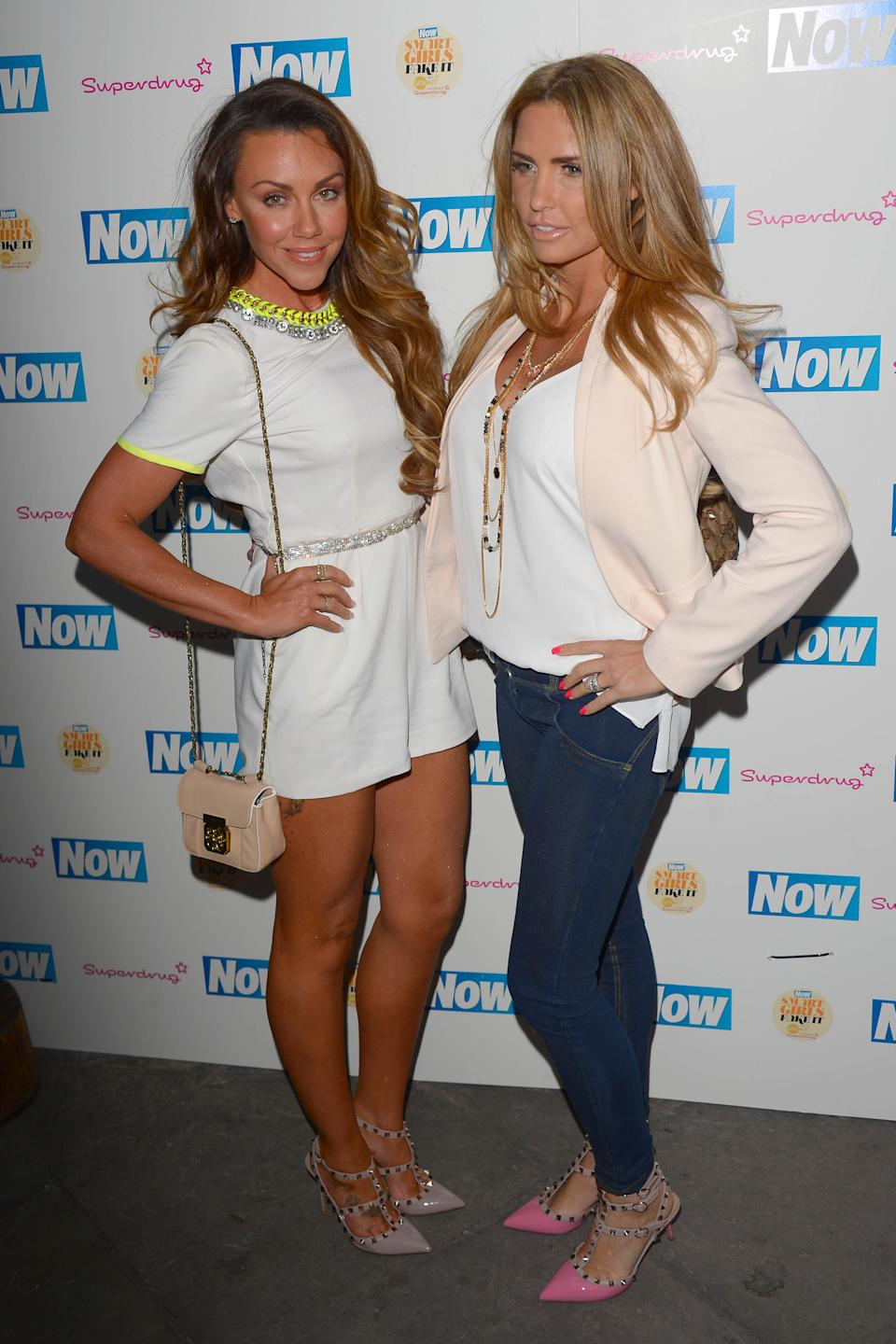 LONDON, ENGLAND - JUNE 09:  Michelle Heaton and Katie Price attend the Now Smart Girls Fake It Campaign launch at Kanaloa on June 9, 2015 in London, England.  (Photo by Stuart C. Wilson/Getty Images)