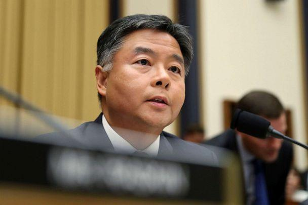 PHOTO: Rep. Ted Lieu asks questions to former special counsel Robert Mueller, as he testifies before the House Judiciary Committee hearing on his report on Russian election interference, on Capitol Hill, in Washington, D.C., July 24, 2019. (Andrew Harnik/AP)