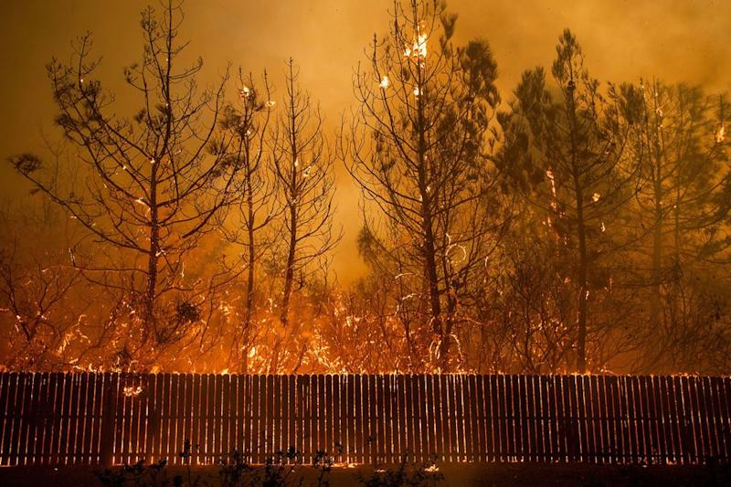 The Camp Fire in Paradise, California