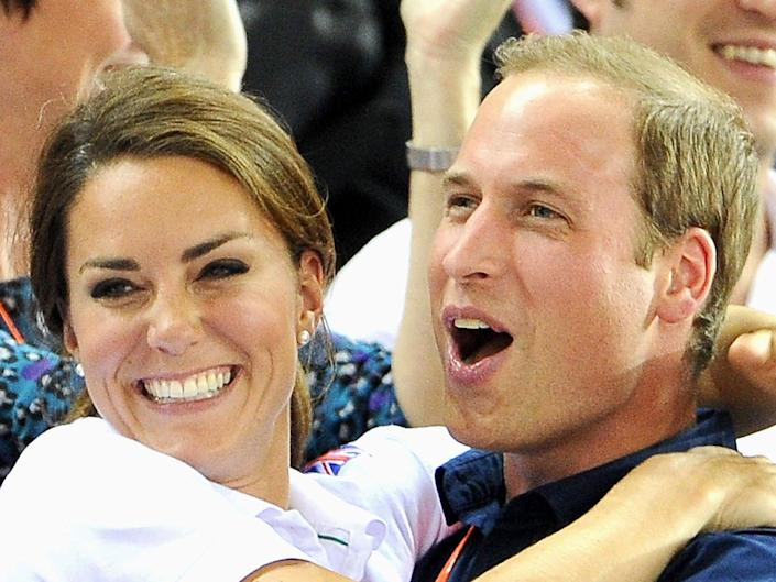 Prince William and Kate Middleton at the London 2012 Olympics (Getty Images)