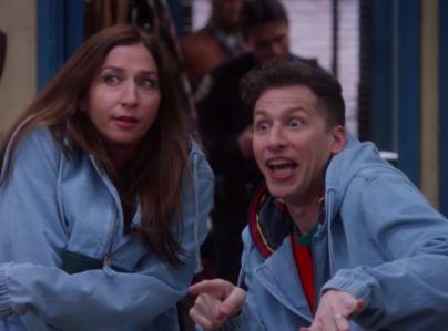 'I get people's concerns': Chelsea Peretti and Andy Samberg in 'Brooklyn Nine-Nine' (Fox)