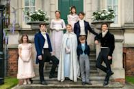 <ul> <li><strong>What to wear for Hyacinth: </strong>As the eighth and youngest Bridgerton child, Hyacinth mainly wears pink dresses with lots of frills and fancy bows. </li> <li><strong>What to wear for Colin: </strong>You can find Colin wearing a lot of blue throughout the season. A blue jacket, vest, and pants very much suit his look.</li> <li><strong>What to wear for Lady Violet: </strong>Almost always dressed in white, you can find Lady Violet with her hair back, in a white gown, with white gloves on.</li> <li><strong>What to wear for Eloise:</strong> You can find Eloise dressed in gowns with high necklines. She appears to keep her skin very covered - so try not to show <em>too</em> much!</li> <li><strong>What to wear for Anthony:</strong> One of Anthony's most iconic looks is in the first episode when he accompanies Daphne to the ball. He wears a white vest and undershirt with a cropped jacket that is so stylish, it's a <em>must-try</em> costume choice. </li> <li><strong>What to wear for Daphne:</strong> Daphne is a big fan of the color blue (up until she marries Simon). A long blue dress, white gloves, and a cloak will suffice for this costume. </li> <li><strong>What to wear for Gregory: </strong>For being the youngest Bridgerton son, Gregory dresses wisely beyond his years. To pull off Gregory, a blue vest, a white undershirt, and gray trousers will do.</li> <li><strong>What to wear for Benedict:</strong> As the second eldest Bridgerton son, Benedict dresses in head-to-toe black with a pop of white for his vest or undershirt.</li> </ul>