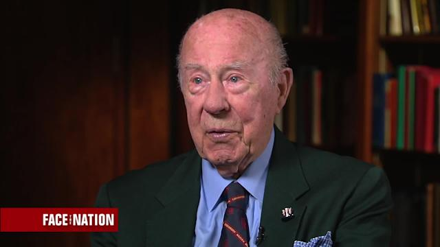 "Former Secretary of State George Schultz on a recent ""Face the Nation"" appearance."
