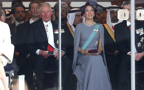 Prince Charles, seen here alongside Crown Princess Mary of Denmark, also attended the ceremony - Credit: Chris Jackson