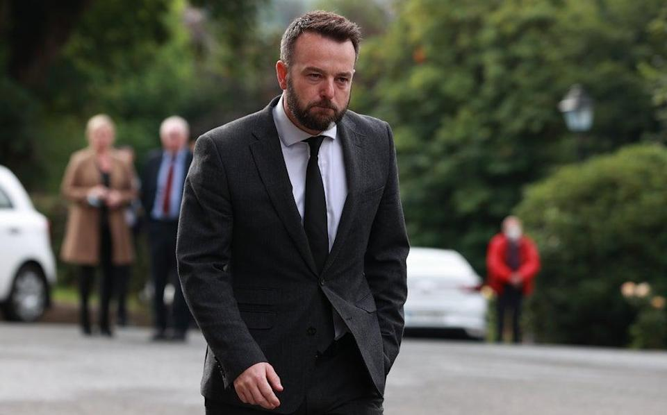 SDLP leader Colum Eastwood at the funeral of Pat Hume (Liam McBurney/PA) (PA Wire)