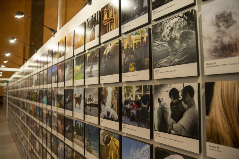The Fujifilm Printlife exhibit aims to free images from our pockets and share them with the world. (Photo: Gordon Donovan/Yahoo News)