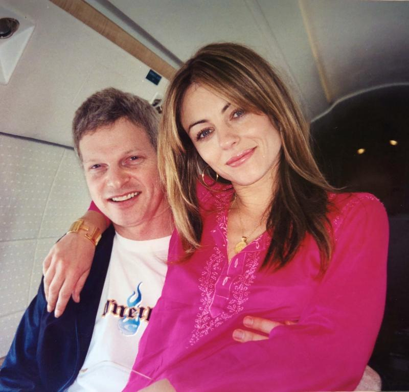 Elizabeth Hurley dated Steve Bing in 2001 and he was the father of her son Damian. (Instagram/Elizabeth Hurley)