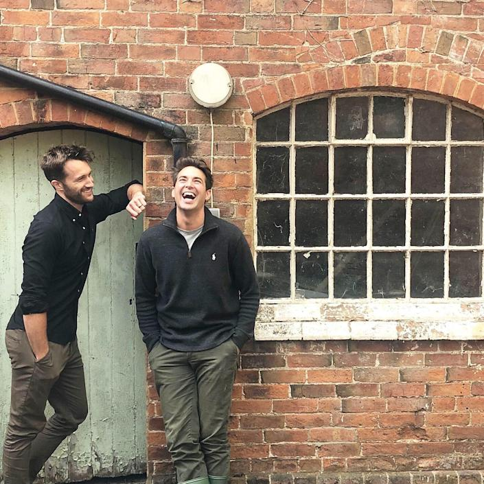 Having left their previous home for rural Warwickshire, U.K., Dean (left) and Borja are midway through the renovation of this Georgian estate. With a variety of accommodations from cottages to stables, the future use of the property will prove to be as adaptable as they are.