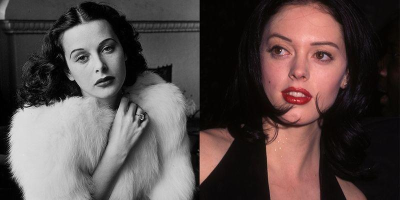 <p>The '30s film star Hedy Lamarr was glamorized for her fair skin and dark hair throughout her career. Almost 60 years later, Rose McGowan launched her film career with some characteristics that are oddly reminiscent of the late actress.</p>