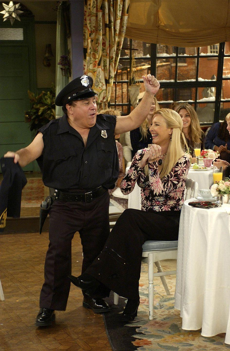 """<p>No <em>Friends</em> fan will ever forget one of the finale episodes, called """"The One Where the Stripper Cries."""" Danny DeVito guest-starred as an inadequate stripper for Phoebe's bridal shower, and let's just say it's very memorable.</p>"""
