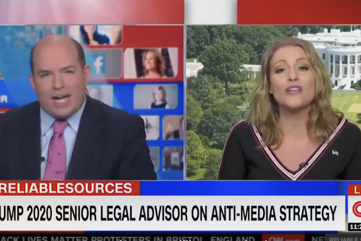 CNN anchor Brian Stelter and Trump lawyer Jenna Ellis argue about accusations of 'fake news': CNN