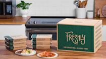 """<p><span>Freshly is a great alternative to takeout. If you don't cook, its plans can help you eat healthier and save money on your daily meals.</span></p> <p><b>How Much Does Freshly Delivery Cost? </b><span>Depending on the frequency, $7.99 to $11.50 per meal </span></p> <p><b>Is Freshly Delivery Worth It? </b><span>Freshly is best for individuals who use the service frequently (at least 9 to 12 meals per week) to save on the meal price.</span></p> <p><b>Who Is Freshly Best For?</b></p> <ul> <li><span>Best for health-conscious eaters looking for freshly prepared meals</span></li> <li><span>Best for busy people — dishes can be microwaved and ready in just three minutes.</span></li> <li><span>Skip it if you like larger portions. </span></li> </ul> <p><em><strong>Explore: <a href=""""https://www.gobankingrates.com/saving-money/shopping/extra-grocery-costs-youre-forgetting-about/?utm_campaign=1013201&utm_source=yahoo.com&utm_content=25"""" rel=""""nofollow noopener"""" target=""""_blank"""" data-ylk=""""slk:Extra Grocery Costs You're Probably Forgetting About"""" class=""""link rapid-noclick-resp"""">Extra Grocery Costs You're Probably Forgetting About</a></strong></em></p>"""