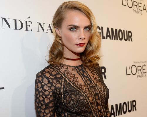 Cara Delevingne channeled old Hollywood meets gothic goddess at the Glamour Women of the Year Awards