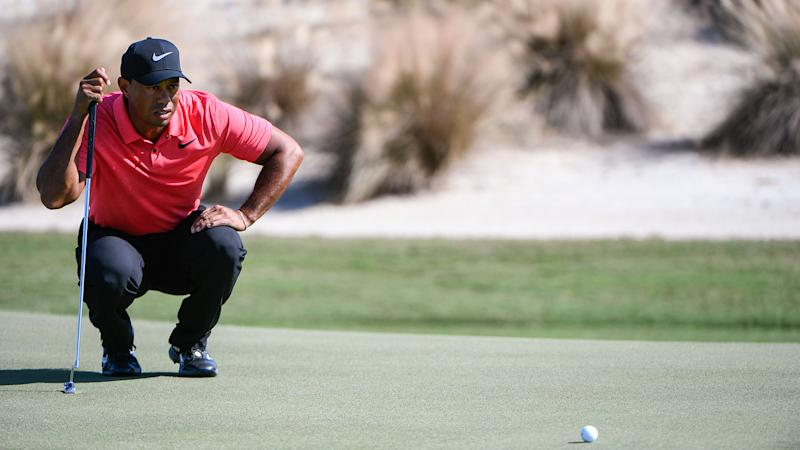 Woods grouped with Reed and Hoffman at Torrey Pines