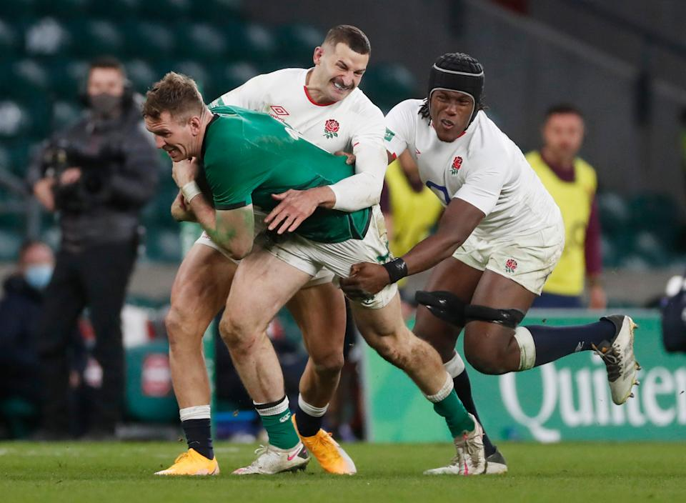 Maro Itoje topped the tackle charts with a monumental 24 challengesReuters