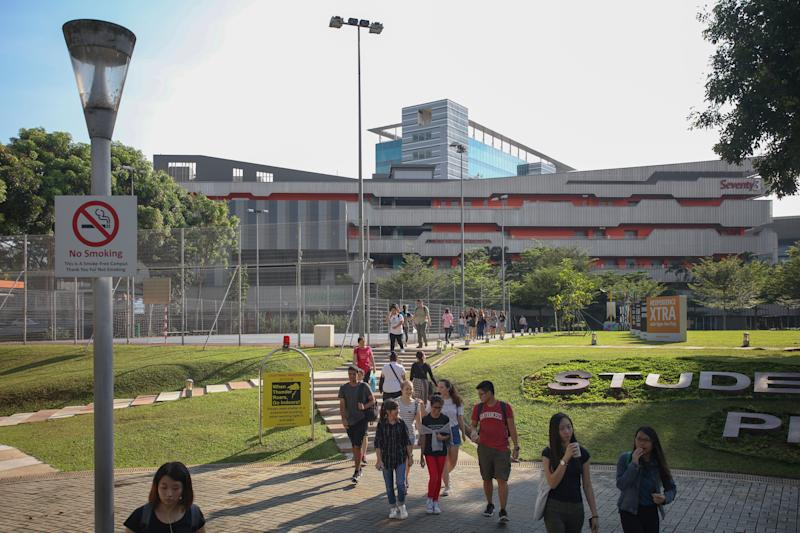 Students on campus at Ngee Ann Polytechnic. (Yahoo News Singapore file photo)