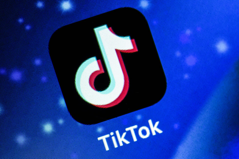 In this photo illustration Tiktok application is shown in Assam, India, on June 29, 2020. Indian Government on Monday banned as many as 59 mobile apps including Tiktok. The move comes as tensions between India and China. (Photo Illustration by David Talukdar/NurPhoto via Getty Images)
