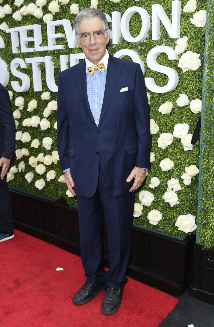 FILE - Elliott Gould attends the CBS Summer Soiree during the Summer TCA's on Aug. 1, 2017, in Los Angeles. Gould turns 83 on Aug. 29. (Photo by Richard Shotwell/Invision/AP, File)