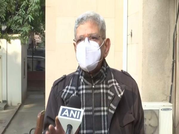 CPI(M) general secretary Sitaram Yechury speaking to ANI in New Delhi on Wednesday [Photo/ANI]