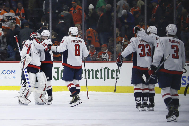 National Hockey League roundup: Capitals edge Flyers 2-1 in shootout