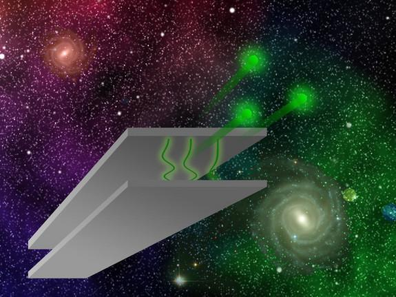 Neutrons between parallel plates can test hypothetical forces in the universe.