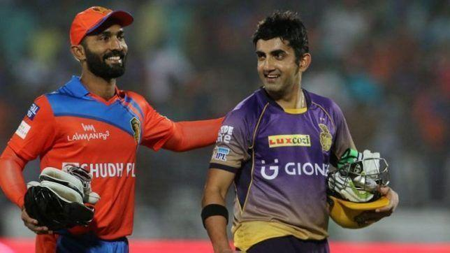Gautam Gambhir and Dinesh Karthik are two of the nine players to feature in this list