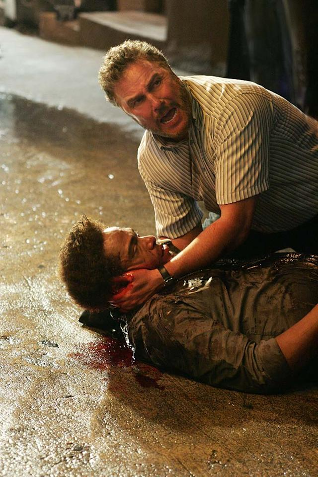 """Grissom discovers Warrick has been shot in his car and left for dead. (""""For Warrick"""" 10/9/2008, Season 9 Premiere)"""