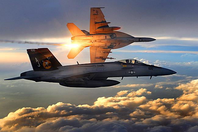 F/A-18E Super Hornets fighter jets Afghanistan