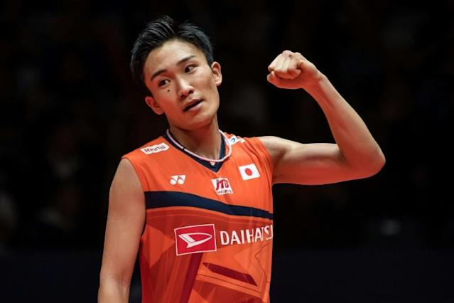 Kento Momota was discharged from a Malaysian hospital on Wednesday (AFP Photo/STR)