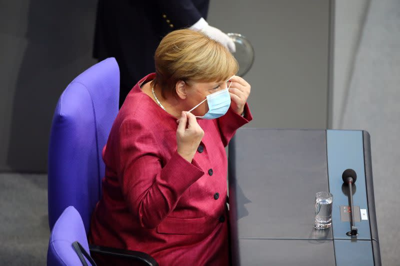 Germany's Merkel pledges $100 million for COVID-19 vacine for poor countries