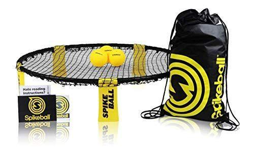 """<p><strong>Spikeball</strong></p><p>amazon.com</p><p><strong>$59.95</strong></p><p><a href=""""https://www.amazon.com/dp/B002V7A7MQ?tag=syn-yahoo-20&ascsubtag=%5Bartid%7C10050.g.23838030%5Bsrc%7Cyahoo-us"""" rel=""""nofollow noopener"""" target=""""_blank"""" data-ylk=""""slk:Shop Now"""" class=""""link rapid-noclick-resp"""">Shop Now</a></p><p>Here's a game you'll love just as much as your kids—guaranteed. Spikeball has grown in popularity over the last few years because it's easy to understand, quick to set up, and a ton of fun.</p>"""
