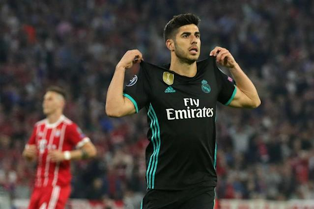 Real Madrid moved a step closer to a third straight Champions League title after substitute Marco Asensio hit the winner in a 2-1 semi-final, first-leg victory at Bayern Munich on Wednesday.