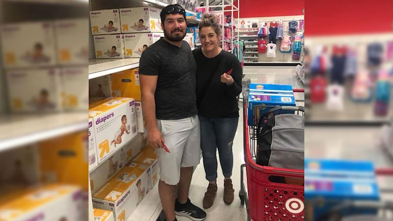 Manuel Franco, the $768 Powerball jackpot winner, surprised a stranger with a Target gift card on Mother's Day. (Credit: Facebook/Nicole Domitro)