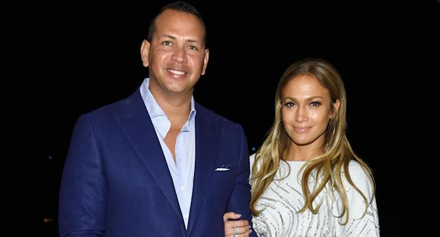 Alex Rodriguez and Jennifer Lopez don't always go glam. (Photo: Getty Images)